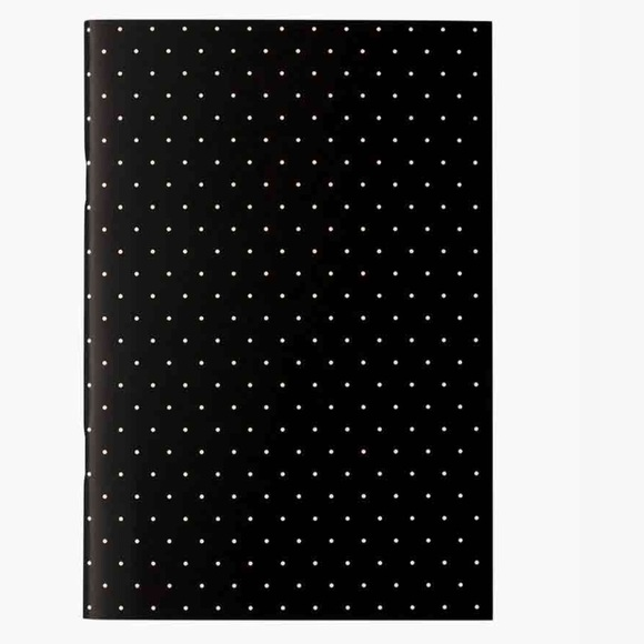 kate spade Other - Kate Spade Notebook Black White Dots Journal NWT